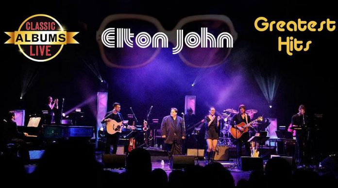 "Murray James-Bosch performs with a full band to perform a note-for-note recreation of Elton John's 1974 ""Greatest Hits"" album when Classic Albums Live returns to Showplace Performance Centre in Peterborough on April 24, 2019. (Photo courtesy of Classic Albums Live)"