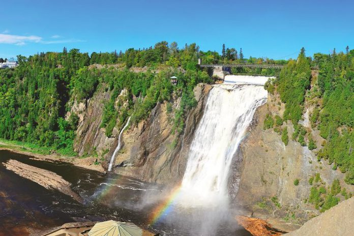 Montmorency Falls, stretching upwards a spectacular 272 feet, is one stop guests will make on the Saguenay tour. The site is a year-round destination for visitors to Québec City and Montréal, offering a range of outdoor activities and the stunning sight of the falls. (Supplied photo)