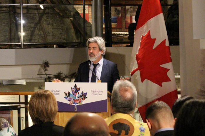 On April 1, 2019, Minister of Canadian Heritage and Multiculturalism Pablo Rodriguez announced $10 million in funding from the Government of Canada to support the construction of the new facility for The Canadian Canoe Museum in Peterborough. (Photo courtesy of The Canadian Canoe Museum)