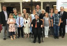 The winners and honourable mentions of Community Care Peterborough's 2018 Grandparent of the Year Award at a reception at Princess Gardens Retirement Residence in Peterborough on June 6, 2018. Nominations for this year's award are open until May 16, 2019. (Photo: Dean Ostrander)