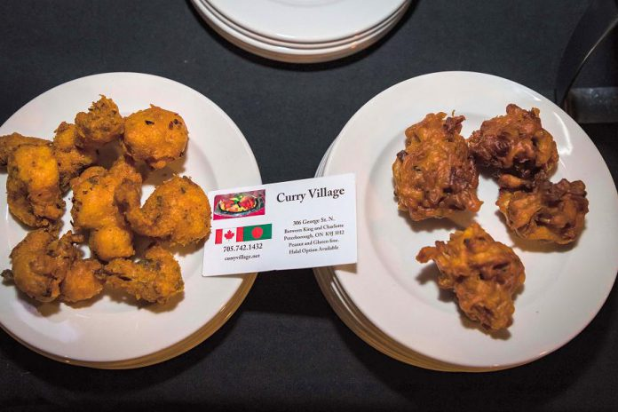 Some of Curry Village's offerings at the 2018 Business Hall of Fame event. This year, they will be serving authentic Indian appetizers, cauliflower pakoras, and onion bhajis. (Photo: Heather Doughty)