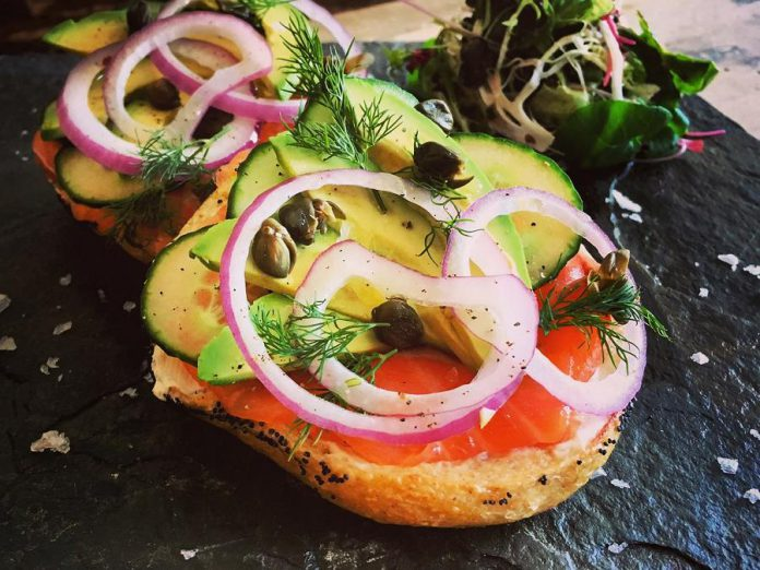 Culinary entrepreneurs will be serving up tantalizing food and beverage at the Junior Achievement Peterborough Lakeland Muskoka Business Hall of Fame and Induction Ceremony on May 23, 2019 at The Venue in downtown Peterborougu. Electric City Bread Company will serve house made crostini with a smoked salmon mousse, garnished with red onion, fresh dill, fried capers and chili oil. (Photo: Electric City Bread Company)