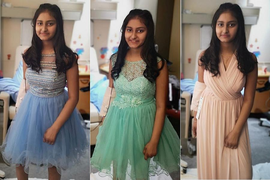 5a7ae3949 ... her Grade 8 graduation. Kristey was able to try on several different  dresses supplied by Shelby Watt, owner of