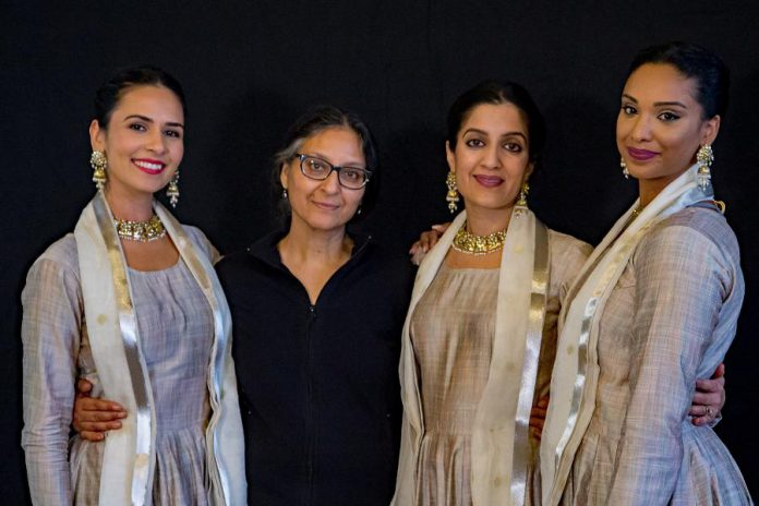 Choreographer Deepti Gupta (second from left) with dancers Aasttha Khajuria, Parul Gupta, and Reshmi Chetram-Dav of Ottawa's Arzoo Dance Theatre. (Supplied photo)