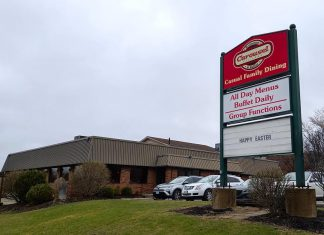 The Spiridis family has announced it is closing the Carousel restaurant at 116 Lansdowne Street East in Peterborough as of June 2, 2019. (Photo: Bruce Head / kawarthaNOW.com)