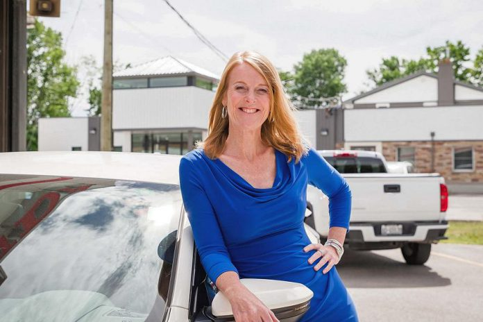 Monika Carmichael is owner, dealer principal, and general manager of Trent Valley Honda in Peterborough. She won the 2019 Women in Business Award in recognition of her outstanding business leadership in the community. (Photo: Heather Doughty / Inspire The Women's Portrait Project)
