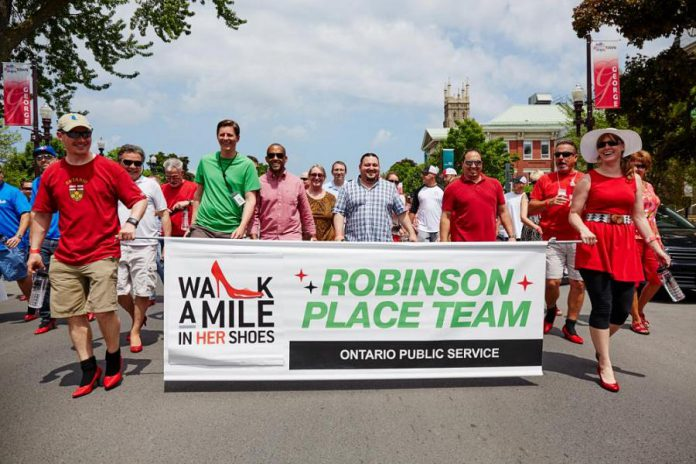 Registration is now open for the 11th annual YWCA Walk a Mile in Her Shoes, taking place on May 24, 2019 in downtown Peterborough. You can participate as an individual or in a team during the event, which raises funds for YWCA Peterborough Haliburton's Crossroads Shelter. Red high heels are optional; you can walk in any shoes you are comfortable wearing. (Photo courtesy of YWCA Peterborough Haliburton)