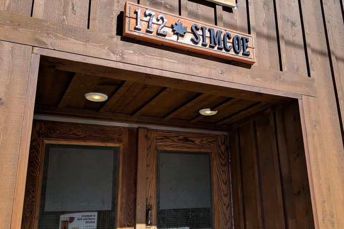 Simcoe Ptbo, located at 172 Simcoe Street in downtown Peterborough, has been presenting live music since it opened in March. The venue will be closing as of May 31, 2019. (Photo: Bruce Head / kawarthaNOW.com)