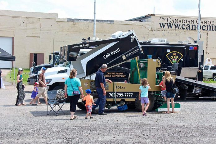 During Touch-A-Truck at The Canadian Canoe Museum, families can get up close to vehicles they normally only see from a distance. (Photo courtesy of The Canadian Canoe Museum)