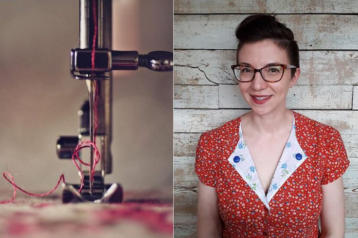'Machine Sewing 101' with instructor Kathryn Bahu runs on Wednesday in June at Madderhouse Textile Studios in downtown Peterborough. (Photo courtesy of Madderhouse Textile Studios)