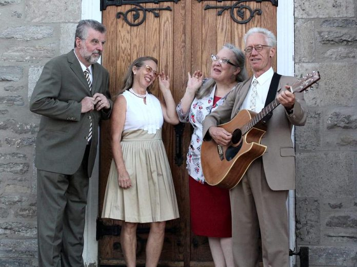 The McDonnell Street Gospel Quartet, which performs vintage roots-gospel songs from the '30s and '40s era, includes band members Colin MacAdam, Muriel Mountain, Dianne Latchford, and Curtis Driedger. (Photo: Ashton Swinnerton)