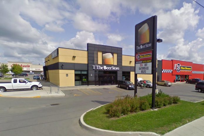 The Beer Store at 570 Lansdowne Street in Peterborough. (Photo: Google Maps)