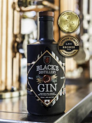 Black's Distillery Gin has won gold at the San Francisco World Spirits Competition and bronze at the London Spirits Competition. (Photo: Black's Distillery)