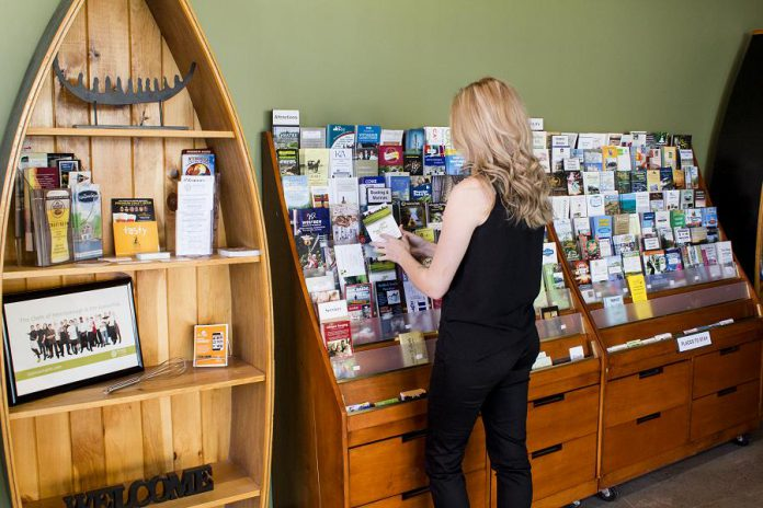 The Peterborough & the Kawarthas Visitor Centre provides a wide selection of free information including travel guides, brochures, roadmaps, and trail guides, as well as trained travel counsellors available in person, over the phone, or online. (Supplied photo)