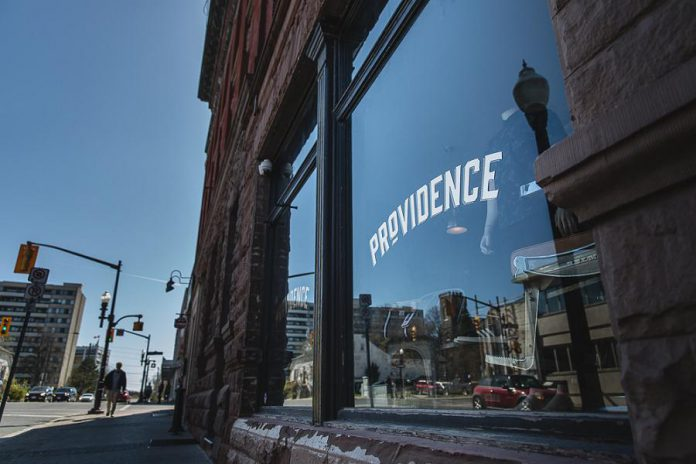 Providence in downtown Peterborough celebrated its one-year anniversary on May 25, 2019. Owner Mike Watt and Shelby Watt, who own a number of Peterborough businesses, are inductees into the 2019 Junior Achievement Business Hall of Fame. (Photo: Providence)