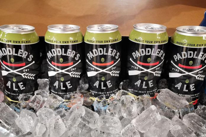 Publican House Brewery developed its Paddler's Ale in 2017, and launched a line of associated merchandise in 2018. (Photo courtesy of The Canadian Canoe Museum)