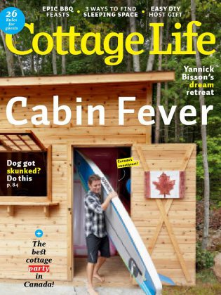 Yannick and Shantelle Bisson's cottage on Chandos Lake was profiled in the May 2019 issue of Cottage Life magazine. (Photo: Cottage Life)