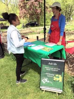The Peterborough Master Gardeners will be at the Ecology Park Plant Sale on Saturday, May 18th to answer all your garden and planting-related questions. (Photo: Karen Halley)