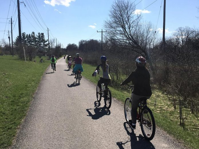 Peterborough's extensive trail network is a great place to test out your two wheels. Enjoy a family ride on International Trails Day with the Trails Scavenger Hunt provided in the City of Peterborough's Fun Guide. (Photo: Lindsay Stroud)