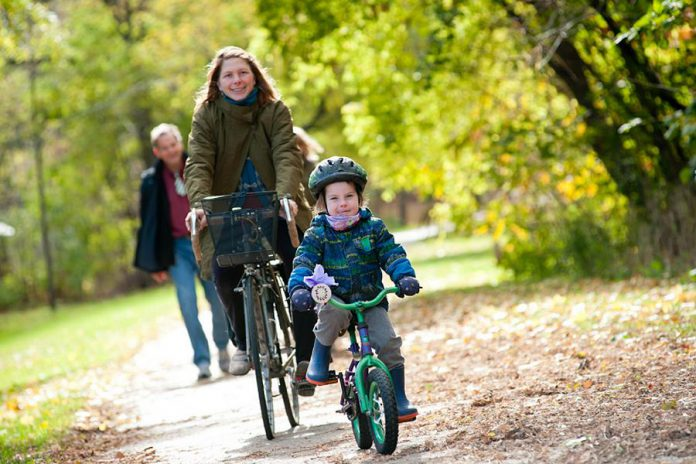Bike riding is an excellent way for all ages to build a little physical activity into the day and it's a lot of fun too. (Photo: Lindsay Stroud)