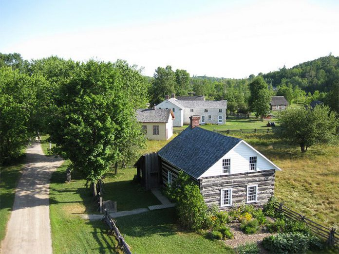 Nestled along the banks of the historic Indian River in Keene, Lang Pioneer Village Museum includes more than 25 restored and furnished buildings representing the 19th-century pioneer era in the Kawarthas. (Photo courtesy of Lang Pioneer Village Museum)