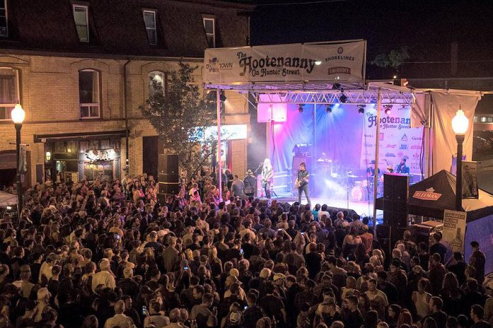 There'll be dancing in the streets during the Hootenanny on Hunter Street on August 11, 2019, downtown Peterborough's biggest live music street party. (Photo courtesy of Peterborough DBIA)