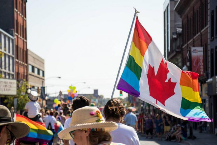 The annual Peterborough Pride Parade takes place in downtown Peterborough on September 21, 2019, wrapping up Peterborough Pride Week festivities. (Photo courtesy of Peterborough DBIA)