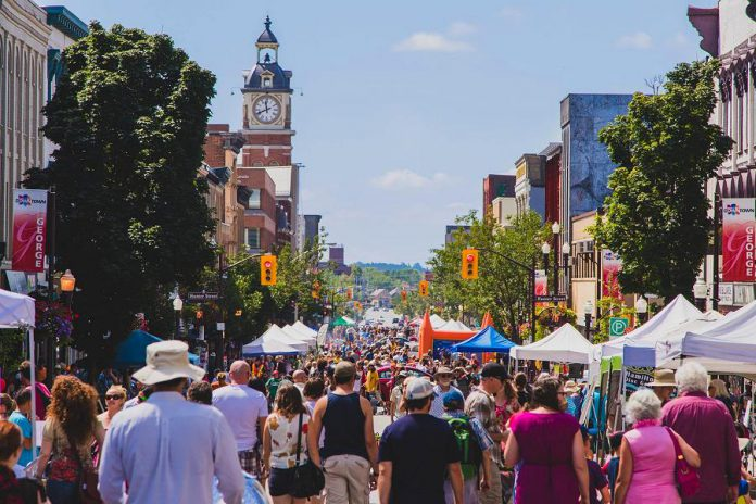 Peterborough Pulse, the award-winning open streets festival in downtown Peterborough, returns for its fifth year on Saturday, July 27, 2019. It's one of many popular events taking place in downtown Peterborough this summer. (Photo courtesy of Peterborough DBIA)