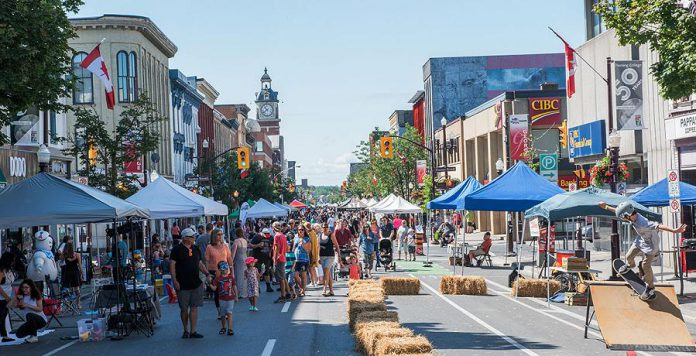 The 5th annual Peterborough Pulse turns the streets of downtown Peterborough into a playground for one day on July 27, 2019. (Photo courtesy of Peterborough DBIA)