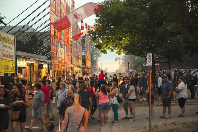 The Kawartha Rotary Ribfest food and music festival takes place in Millennium Park in downtown Peterborough from July 12 - 14, 2019. (Photo courtesy of Peterborough DBIA)