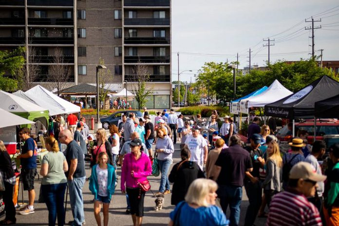 The Peterborough Regional Farmers' Market runs every Saturday at the AON Citi Centre Courtyard in downtown Peterborough. (Photo courtesy of Peterborough DBIA)