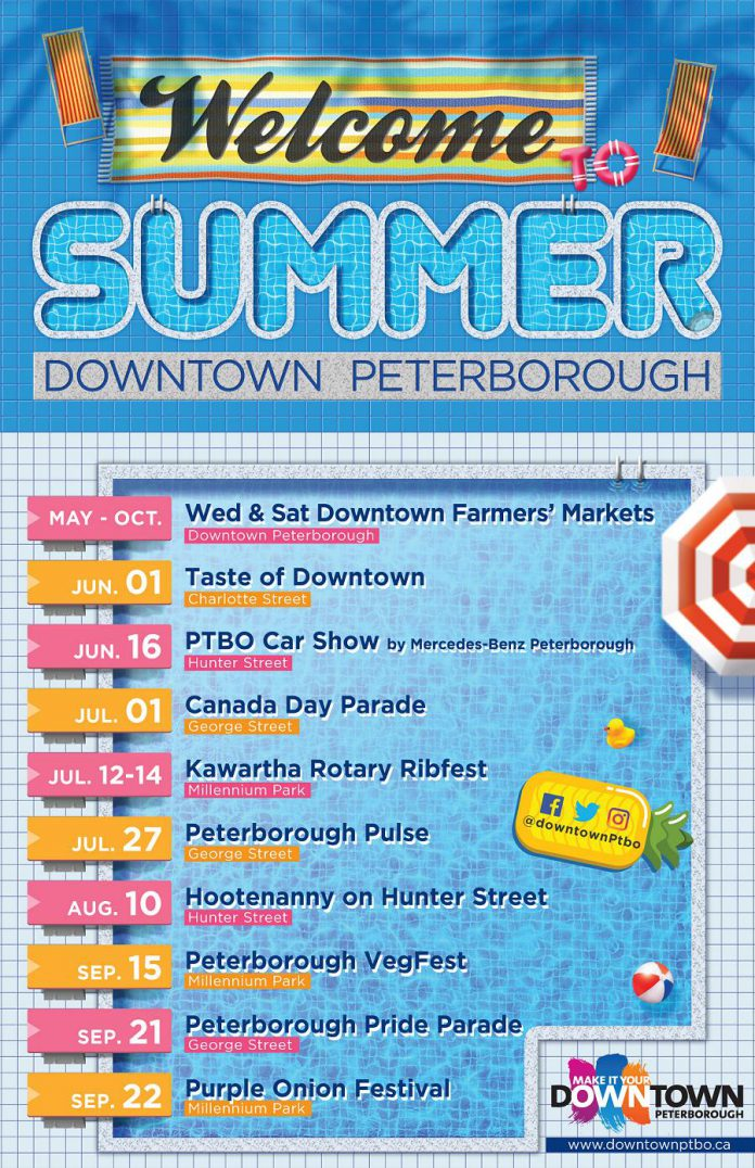 What's happening this summer in downtown Peterborough. (Graphic: Peterborough DBIA)