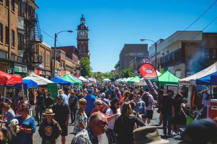 The Taste of Downtown food, entertainment, and shopping festival returns to Charlotte Street in downtown Peterborough on June 1, 2019. (Photo courtesy of Peterborough DBIA)