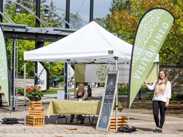 This summer, Peterborough & the Kawarthas Tourism is continuing their Mobile Visitor Services program to include 30 locations throughout the City and County of Peterborough. Hitting up high-traffic areas throughout the townships allows visitors to get information on-the-go, in addition to the option to drop into the Visitor Centre in downtown Peterborough. (Photo courtesy of Peterborough & the Kawarthas Economic Development)