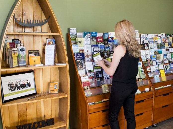 The Peterborough & the Kawarthas Tourism Visitor Centre in downtown Peterborough provides a wide selection of free information including travel guides, brochures, roadmaps and trail guides, as well as full-service itinerary planning. (Photo courtesy of Peterborough & the Kawarthas Economic Development)