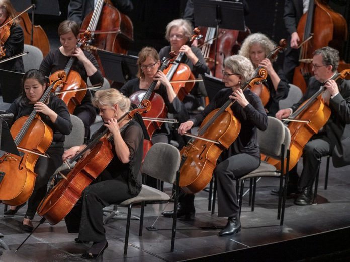 "The Peterborough Symphony Orchestra in performance at Showplace Performance Centre during its ""Classical Roots"" concert on February 2, 2019. (Photo:  Huw Morgan)"