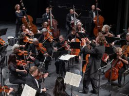 """The Peterborough Symphony Orchestra brings its 2018-19 season to a close on May 25th with """"Witches' Sabbath"""", a performance of Hector Berlioz's """"Symphonie fantastique"""" (1830) and Franz Joseph Haydn's Symphony No. 100. Pictured is Maestro Michael Newnham conducting the orchestra during its """"Classical Roots"""" concert on February 2, 2019. (Photo: Huw Morgan)"""