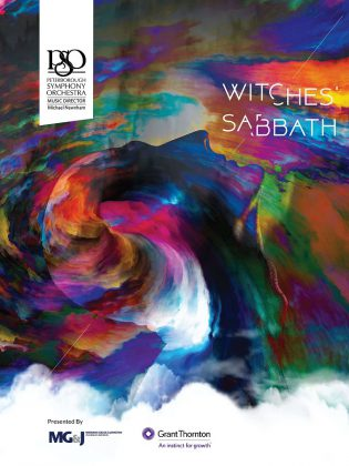 """Witches' Sabbath"" on May 25, 2019 at Showplace Performance Centre in downtown Peterborough features the Peterborough Symphony Orchestra performing Hector Berlioz's passionate and imaginative 'Symphonie fantastique' (1830), and Franz Joseph Haydn's explosive ""Military"" (Symphony No. 100) (1795)."