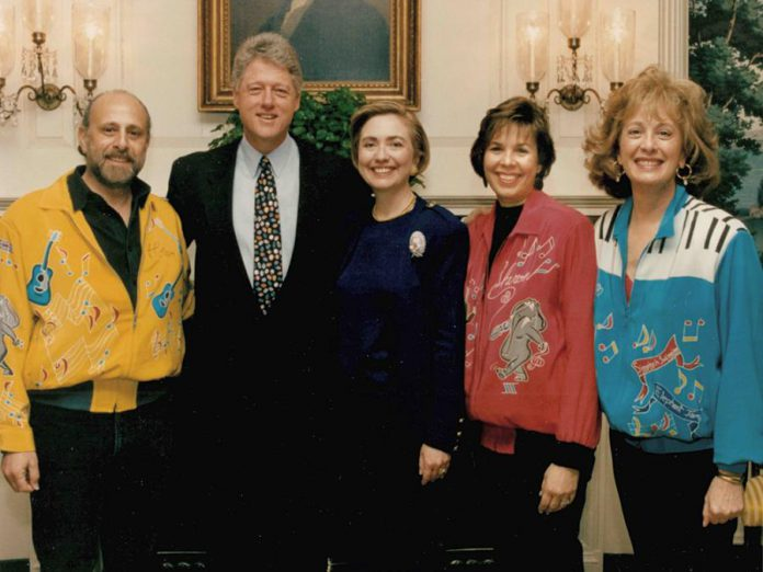 Bram Morrison, Sharon Hampson, and the late Lois Lillenstein with President Bill Clinton and First Lady Hillary Clinton in 1994. (Photo: Sharon and Bram)