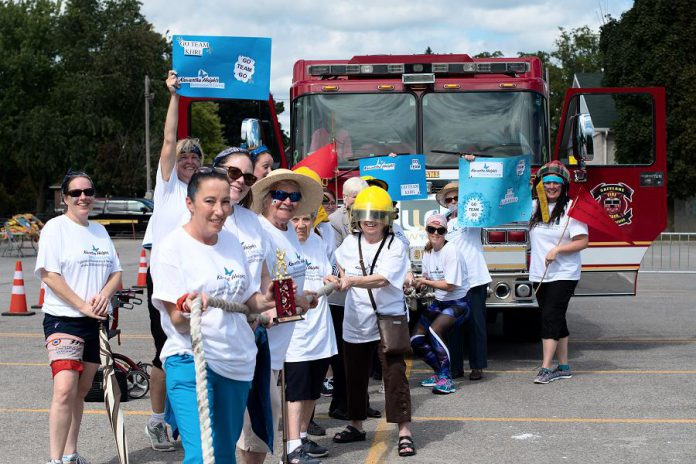 At the Pulling for Dementia Fire Truck Pull, which takes place on Friday, September, 2019 in the parking lot of the Peterborough Memorial Centre, trophies will awarded to teams based on their composition, and one team will be awarded the trophy for fastest pull time. (Photo: Bianca Nucaro / 705 Creative)