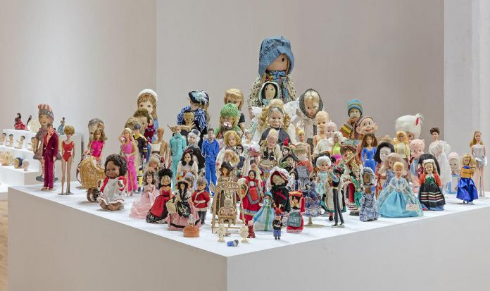 "On the final day of Sameer Farooq's BOOP Museum exhibit, young children will be invited to ""loot"" the dolls in the museum, an ironic observation of the history of museums appropriating artifacts from various cultures. (Photo courtesy of the Visual Arts Centre of Clarington)"