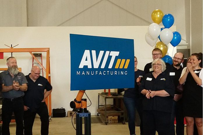 AVIT Manufacturing, the new name and brand of Steelworks Design, is unveiled during an open house and media conference at the company's facility at 1961 Fisher Drive in Peterborough on June 6, 2019. (Photo courtesy of Mega Experience)