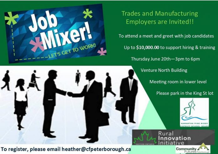 Community Futures Peterborough job fair mixer
