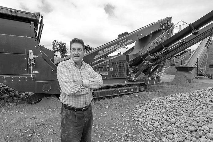 Paschal McCloskey founded McCloskey International, headquartered in Peterborough, in 1985. After decades of expansion, the business is being acquired by Finnish industrial machinery company Metso. (Photo: McCloskey International)