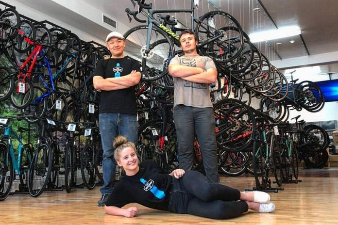 Toronto bike enthusiast Linus Kwak (left) has opened a second location of premium bike shop Dream Cyclery in downtown Peterborough, in the former location of Christensen Fine Art. (Photo: Dream Cyclery / Facebook)