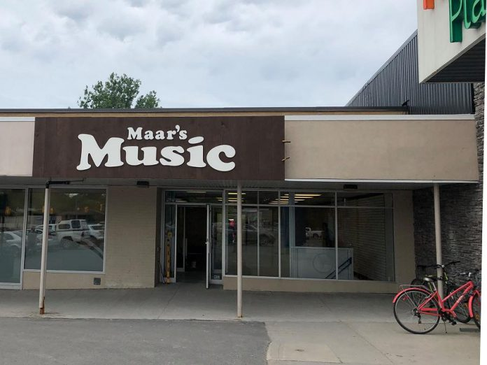 A sign is up at Maar's Music new location at Brookdale Plaza, which opens on July 2, 2019. (Photo: Maar's Music / Facebook)
