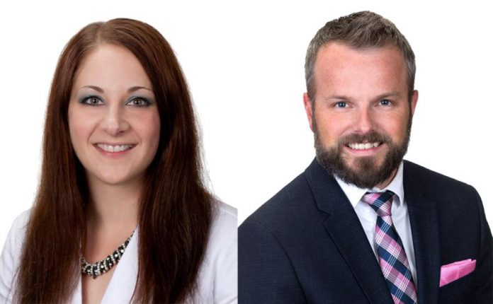 Stacey Brandon and Nicholas Brandon of RBC are the guest speakers at the Peterborough DBIA's Breakfast Network on June 19, 2019. (Supplied photos)