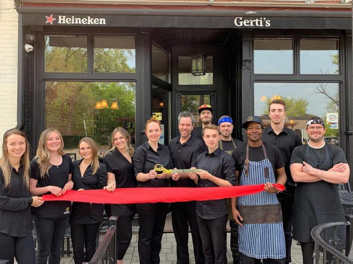 Gerti's staff celebrate the official reopening of the downtown Peterborough restaurant under new ownership. (Photo: Gerti's / Facebook)