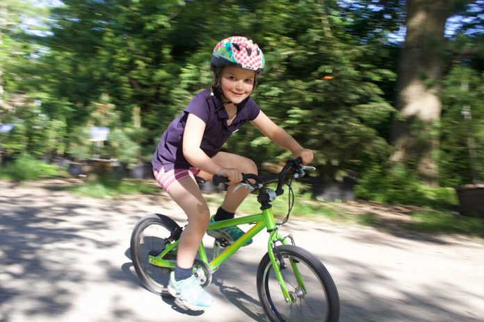 Kids on Bikes on June 8, 2019 is a free fun event for families. Grab your bikes and head to  Millennium Park for bike decorating, skills prating, bike games, and the bike playground. (Photo courtesy of GreenUP)