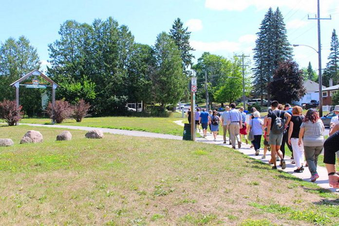 "As part of the NeighbourPLAN project for the Jackson Park-Brookdale neighbourhood in Peterborough, residents explored the neighbourhood on foot and shared their stories of living in the neighbourhood. Residents have now created ""A Vision for the Jackson Park-Brookdale Neighbourhood"", a document featuring innovative ideas that address residents' concerns and build upon existing assets. A celebration of the vision will take place on June 19, 2019 at Highland Heights Public School. (Photo: Karen Halley)"